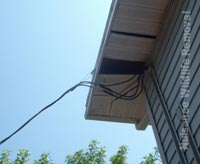 This missing soffit is an open invitation for outdoors wildlife to make themselves at home.