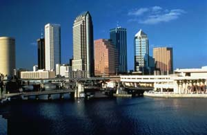 tampa skyline in hillsborough county florida
